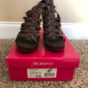 BCBG Chocolate Tara-Va Sandals size 8.5